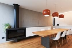 Ofen und Tischgestell aus Stahl